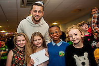 Tuesday  15 December 2015<br /> Pictured: Lukasz Fabianski<br /> Re: Kids SCFC Christmas Party at the Liberty Stadium, Swansea