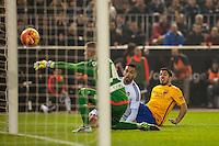 VALENCIA, SPAIN - DECEMBER 5: Luis Suarez during BBVA LEAGUE match between Valencia C.F. and FC Barcelona at Mestalla Stadium on December 5, 2015 in Valencia, Spain