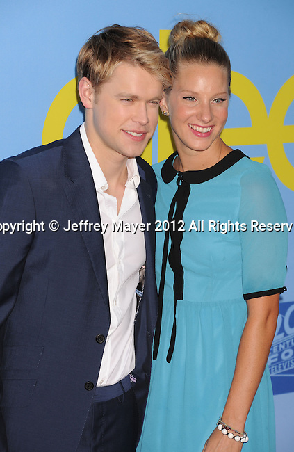 HOLLYWOOD, CA - SEPTEMBER 12: Chord Overstreet and Heather Morris arrive at the 'GLEE' Premiere Screening And Reception at Paramount Studios on September 12, 2012 in Hollywood, California.