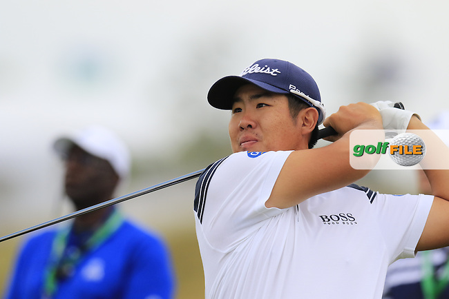 Byeong HUN-AN (KOR) tees off the 2nd tee during Thursday's Round 1 of the 97th US PGA Championship 2015 held at Whistling Straits, Mosel, Kohler, Wisconsin, United States of America. 13/08/2015.<br /> Picture Eoin Clarke, www.golffile.ie