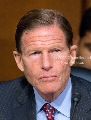 United States Senator Richard Blumenthal (Democrat of Connecticut) listens to testimony before the US Senate Committee on the Judiciary Subcommittee on Crime and Terrorism hearing titled &ldquo;Russian Interference in the 2016 United States Election&rdquo; on Capitol Hill in Washington, DC on Monday, May 8, 2017.<br /> Credit: Ron Sachs / CNP<br /> (RESTRICTION: NO New York or New Jersey Newspapers or newspapers within a 75 mile radius of New York City)