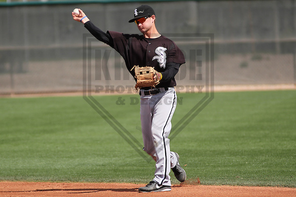 GLENDALE - March 2013: Jake Brown (5)  of the Chicago White Sox during a Spring Training intrasquad game on March 21, 2013 at Camelback Ranch in Glendale, Arizona.  (Photo by Brad Krause). .