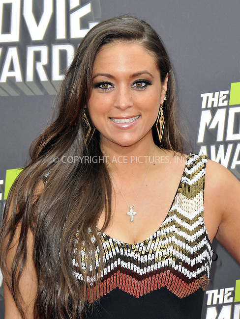 WWW.ACEPIXS.COM....April 14, 2013, Los Angeles, Ca.......Sammi 'Sweetheart' Giancola arriving at the 2013 MTV Movie Awards at Sony Pictures Studios on April 14, 2013 in Culver City, California.......By Line: Peter West/ACE Pictures....ACE Pictures, Inc..Tel: 646 769 0430..Email: info@acepixs.com