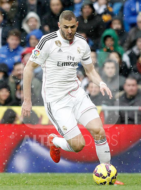 Real Madrid's Karim Benzema during La Liga match.January 31,2015. (ALTERPHOTOS/Acero)