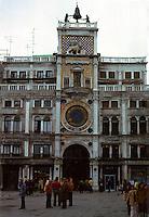 Venice:  Clock Tower--15th Century.  Photo '83.