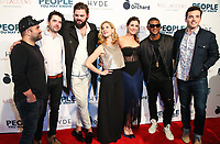 LOS ANGELES, CA - NOVEMBER 13: Sherwin Shelati, Nick Rutherford, Nick Thune, Gillian Alexy, Kaily Smith Westbrook, Usher Raymond IV and Ian Harding at People You May Know at The Pacific Theatre at The Grove in Los Angeles, California on November 13, 2017. Credit: Robin Lori/MediaPunch /NortePhoto.com