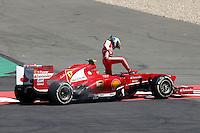 NÜERBURG, ALEMANHA, 07.07.2013 - F1 - GP DA ALEMANHA - O piloto brasileiro Felipe Massa da Ferrari abandona prova no GP da Alemanha em Nüerburg neste domingo, 07. (PIXATHLON / BRAZIL PHOTO PRESS).