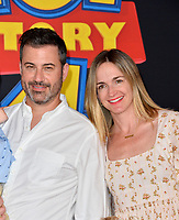 "LOS ANGELES, USA. June 12, 2019: Jimmy Kimmel & Molly McNearney  at the world premiere of ""Toy Story 4"" at the El Capitan Theatre.<br /> Picture: Paul Smith/Featureflash"