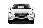 Car photography straight front view of a 2017 Mazda CX-3 Grand-Touring 5 Door SUV Front View