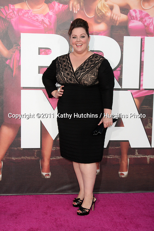 """LOS ANGELES - APR 27:  Melissa McCarthy arriving at the """"Bridesmaids"""" Premiere at Village Theater on April 27, 2011 in Westwood, CA.."""