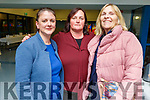 Martha Spangler, Noreen Rusk and Jacqueline O'Neill of the Parents Council volunteering at the Mercy Mounthawk Careers evening in the school on Thursday