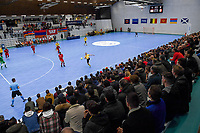 20200129 – Herentals , BELGIUM : Belgian fans and supporters pictured during a futsal indoor soccer game between Armenia and  the Belgian Futsal Devils of Belgium on the first matchday in group B of the UEFA Futsal Euro 2022 Qualifying or preliminary round , Wednesday 29 th January 2020 at the Sport Vlaanderen sports hall in Herentals , Belgium . PHOTO SPORTPIX.BE | DAVID CATRY