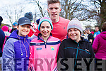 Dara Quirke, Jacinta O'Dowd, Tommy Walsh and Catriona O'Dowd attending the Tralee Parkrun's 3rd birthday run in the Tralee town park on Saturday morning last.