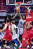 Washington, DC - May 27, 2018: Washington Mystics guard Tierra Ruffin-Pratt (14) has her shot blocked by Minnesota Lynx center Sylvia Fowles (34) in action during game between the Mystics and Lynx at the Capital One Arena in Washington, DC. (Photo by Phil Peters/Media Images International)