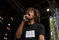 Jaden Smith performs during The New Look Wireless Music Festival at Finsbury Park, London, England on Sunday 05 July 2015. Photo by Andy Rowland.