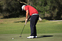 Jack Senior (ENG) on the 6th green during Round 1 of the Challenge Tour Grand Final 2019 at Club de Golf Alcanada, Port d'Alcúdia, Mallorca, Spain on Thursday 7th November 2019.<br /> Picture:  Thos Caffrey / Golffile<br /> <br /> All photo usage must carry mandatory copyright credit (© Golffile | Thos Caffrey)