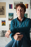 Portrait of Linda Lyke, Professor of Art History and Visual Arts at Occidental College. Nov. 10, 2009 (Photo by Marc Campos, Occidental College Photographer)