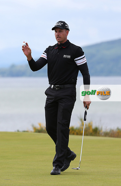 Henrik Stenson (SWE) completes  Round Two of the 2016 Aberdeen Asset Management Scottish Open, played at Castle Stuart Golf Club, Inverness, Scotland. 08/07/2016. Picture: David Lloyd | Golffile.<br /> <br /> All photos usage must carry mandatory copyright credit (&copy; Golffile | David Lloyd)