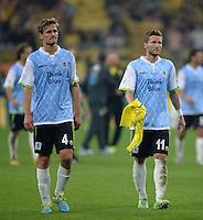 FUSSBALL   DFB POKAL 2. RUNDE   SAISON 2013/2014 TSV 1860 Muenchen - Borussia Dortmund         24.09.2013 Enttaeuschung 1860 Muenchen: Kai Buelow (li) und Benjamin Lauth