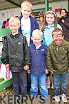 13. Locals Luke, Jack and Callum Gleeson with Kathlyn Costello and Sean Sorohan, enjoying the the Knockdown Fun day at Killeaney AFC's ground on Sunday..