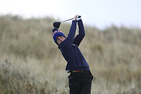David Kitt (Athenry) on the 11th tee during Round 3 of the Ulster Boys Championship at Portrush Golf Club, Portrush, Co. Antrim on the Valley course on Thursday 1st Nov 2018.<br /> Picture:  Thos Caffrey / www.golffile.ie<br /> <br /> All photo usage must carry mandatory copyright credit (&copy; Golffile | Thos Caffrey)