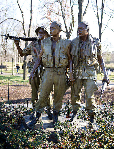 The Three Servicemen statue at the Vietnam Veterans Memorial in Washington, D.C. on Sunday, January 15, 2012..Credit: Ron Sachs / CNP