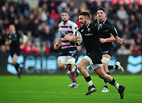 Ospreys' Rhys Webb breaks through in the build up to scoring his sides second try<br /> <br /> Photographer Kevin Barnes/CameraSport<br /> <br /> Guinness Pro14 Round 13 - Ospreys v Cardiff Blues - Saturday 6th January 2018 - Liberty Stadium - Swansea<br /> <br /> World Copyright &copy; 2018 CameraSport. All rights reserved. 43 Linden Ave. Countesthorpe. Leicester. England. LE8 5PG - Tel: +44 (0) 116 277 4147 - admin@camerasport.com - www.camerasport.com