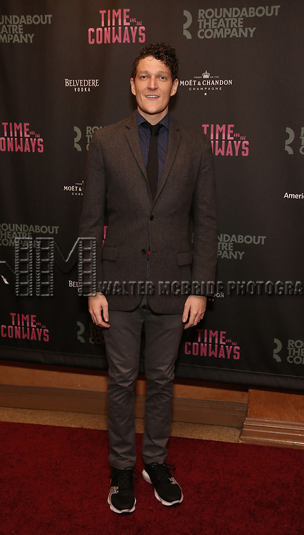 Gabriel Ebert attends the Broadway Opening Night After Party for The Roundabout Theatre Company production of 'Time and The Conways'  on October 10, 2017 at the American Airlines Theatre in New York City.