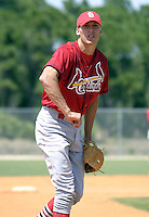 April 2, 2004:  Joe Mather of the St. Louis Cardinals organization during Spring Training at Roger Dean Stadium in Jupiter, FL.  Photo by:  Mike Janes/Four Seam Images