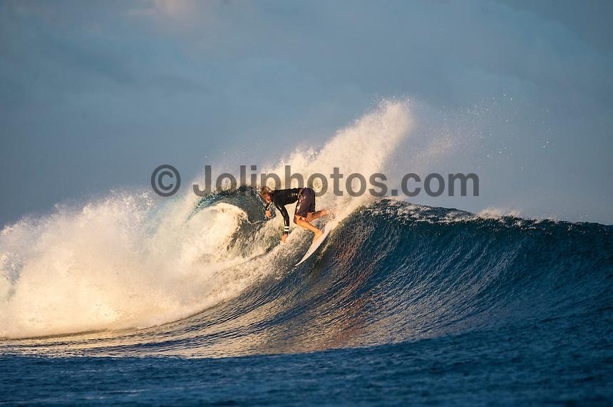 Namotu Island Resort, Namotu, Fiji. (Wednesday June 4, 2014) John John Florence (HAW) – Free surfing session went down this morning while organises debated a starting time for the Fiji Pro. Photo: joliphotos.com