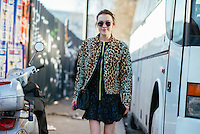 Ella Catliff at Paris Fashion Week (Photo by Hunter Abrams/Guest of a Guest)