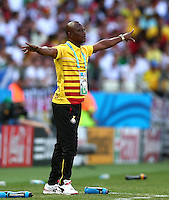 Ghana coach James Appiah gestures on the touchline