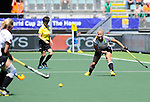 The Hague, Netherlands, June 13: Anissa Korth #27 of Germany passes the ball during the field hockey placement match (Women - Place 7th/8th) between Korea and Germany on June 13, 2014 during the World Cup 2014 at Kyocera Stadium in The Hague, Netherlands. Final score 4-2 (2-0)  (Photo by Dirk Markgraf / www.265-images.com) *** Local caption ***