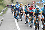 Race leader Red Jersey Miguel Angel Lopez Moreno (COL) and Astana Pro Team during Stage 8 of La Vuelta 2019 running 166.9km from Valls to Igualada, Spain. 31st August 2019.<br /> Picture: Luis Angel Gomez/Photogomezsport | Cyclefile<br /> <br /> All photos usage must carry mandatory copyright credit (© Cyclefile | Luis Angel Gomez/Photogomezsport)