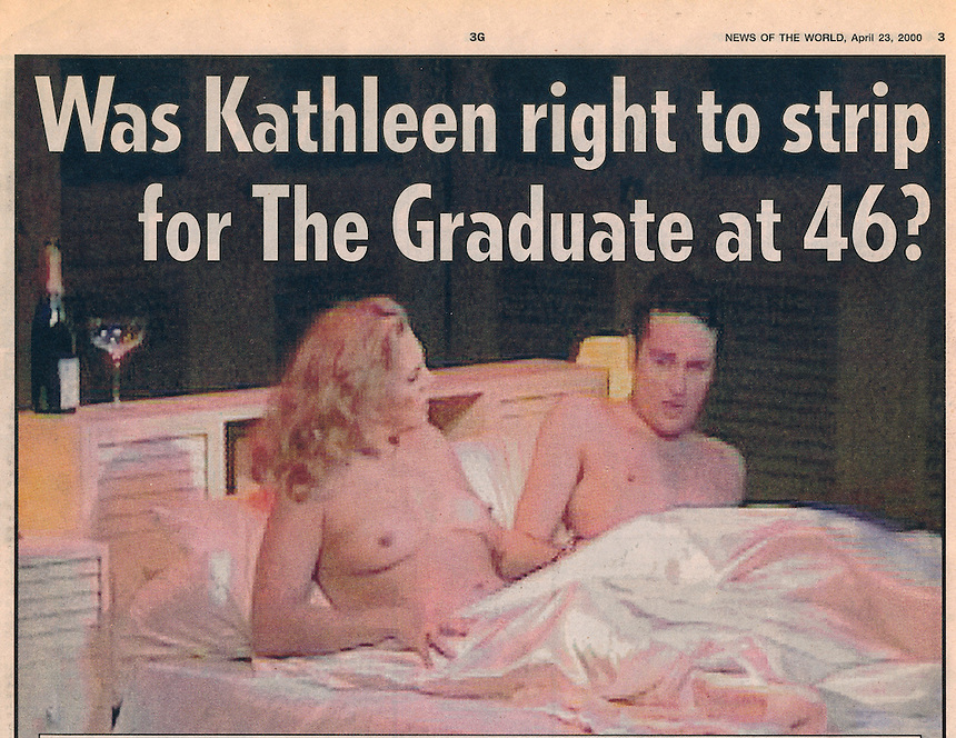 Kathleen Turner appears in the West End Production of The Graduate with Matthew Rhys.Opening night. One scene she appears naked.The role was also played by Jerry Hall.PIC JAYNE RUSSELL..Appeared in The News of the World. 23.04.2000