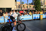 Daniel Martin (IRL) UAE Team Emirates during Stage 1 of the La Vuelta 2018, an individual time trial of 8km running around Malaga city centre, Spain. 25th August 2018.<br /> Picture: Ann Clarke | Cyclefile<br /> <br /> <br /> All photos usage must carry mandatory copyright credit (© Cyclefile | Ann Clarke)
