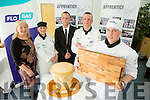 Overall Winner George Hennessy from Middleton College, Cork with l-r  Susie Cocks, Louise Brosnan, Mike Murphy from Flo Gas,  and Mark Doe at the ITT Apprentice Chef finals on Friday