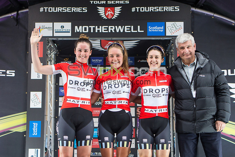 Picture by Alex Whitehead/SWpix.com - 23/05/2017 - Cycling - Tour Series Round 7, Motherwell -  Matrix Fitness Grand Prix - Drops Cycling, leading team.
