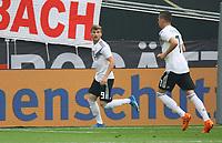 celebrate the goal, Torjubel zum 1:0 von Timo Werner (Deutschland Germany) - 08.06.2018: Deutschland vs. Saudi-Arabien, Freundschaftsspiel, BayArena Leverkusen