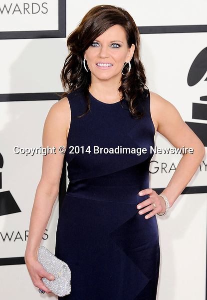 Pictured: Martina McBride<br /> Mandatory Credit &copy; Adhemar Sburlati/Broadimage<br /> The Grammy Awards  2014 - Arrivals<br /> <br /> 1/26/14, Los Angeles, California, United States of America<br /> <br /> Broadimage Newswire<br /> Los Angeles 1+  (310) 301-1027<br /> New York      1+  (646) 827-9134<br /> sales@broadimage.com<br /> http://www.broadimage.com
