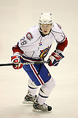 March 15, 2009:  Center Ryan White (28) of the Hamilton Bulldgos, AHL affiliate of Montreal Canadians, during the third period of a regular season game at the Blue Cross Arena in Rochester, NY.  Hamilton defeated Rochester 4-3 in a shoot out.  Photo Copyright Mike Janes Photography 2009