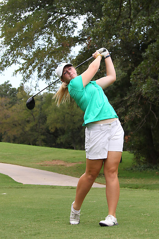 Denton, TX - AUGUST 31: University of North Texas Women's Golf Team Chaz Chrismer at Bridlewood Country Club on August 31, 2012 in Flower Mound, Texas. (Photo by Rick Yeatts)