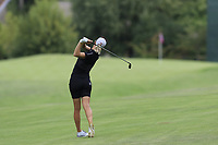 Madelene Sagstrom (SWE) plays her 2nd shot on the 13th hole during Thursday's Round 1 of The Evian Championship 2018, held at the Evian Resort Golf Club, Evian-les-Bains, France. 13th September 2018.<br /> Picture: Eoin Clarke | Golffile<br /> <br /> <br /> All photos usage must carry mandatory copyright credit (© Golffile | Eoin Clarke)