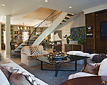 Graceful Curved Staircase and Open Design in Richmond Contemporary Interior