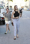 AbilityFilms@yahoo.com805-427-3519www.AbilityFilms.comJune 26th 2012 Whitney Port visit nail salon  in Beverly Hills wearing zebra black and white pants