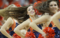Virginia dancers perform during the game against NC State Saturday in Charlottesville, VA. Virginia defeated NC State 58-55.