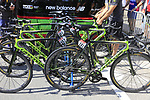 Cannondale Drapac team bikes lined up outside the team bus at sign on in Verviers before the start of Stage 3 of the 104th edition of the Tour de France 2017, running 212.5km from Verviers, Belgium to Longwy, France. 3rd July 2017.<br /> Picture: Eoin Clarke | Cyclefile<br /> <br /> <br /> All photos usage must carry mandatory copyright credit (&copy; Cyclefile | Eoin Clarke)