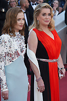 Isabelle Huppert &amp; Catherine Deneuve at the 70th Anniversary Gala for the Festival de Cannes, Cannes, France. 23 May 2017<br /> Picture: Paul Smith/Featureflash/SilverHub 0208 004 5359 sales@silverhubmedia.com