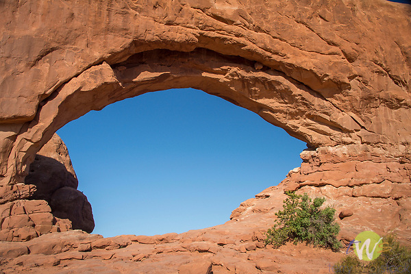 Arches National Park. Utah. North Window Arch.