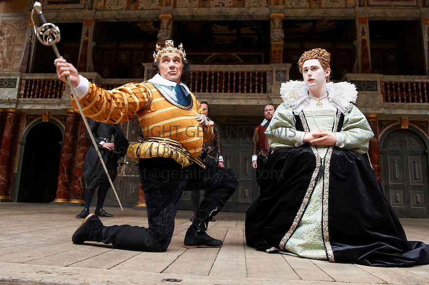 Richard III by William Shakespeare directed by Tim Carroll With  Mark Rylance as Richard, Samuel Barnett as Queen Elizabeth. Opens at Shakespeare's Globe Theatre  on 25/7/12.CREDIT Geraint Lewis